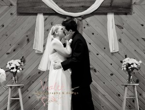 First Kiss as Man & Wife