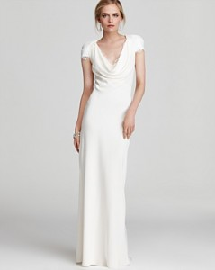Cap Sleeve Wedding Gown