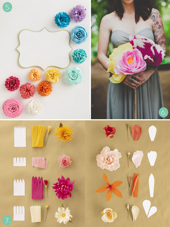 Beautiful DIY paper flowers, wedding