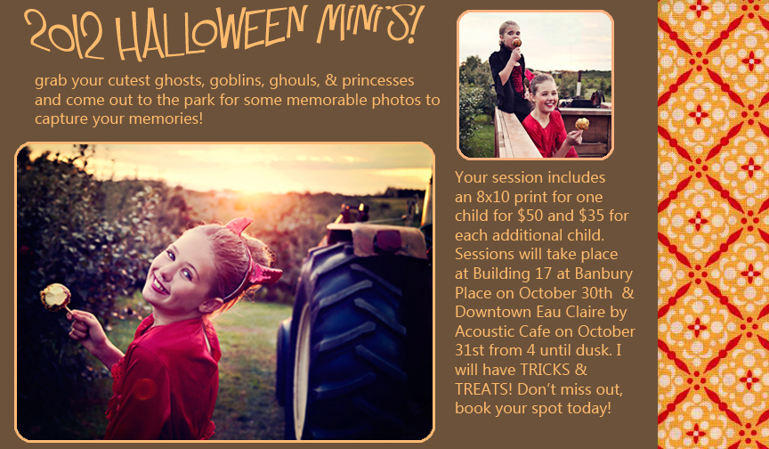 Eau Claire, WI Photographer, Halloween Mini Sessions