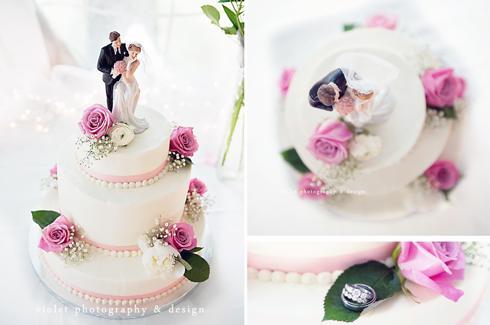 Pink & White Wedding cake, traditional 3 tier wedding cake, dessert first bakery