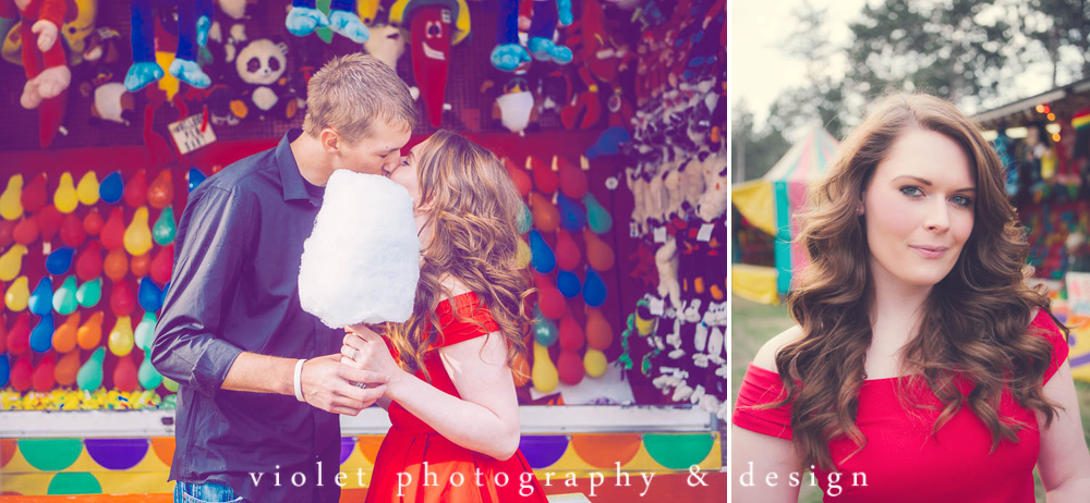 cotton candy engagement session