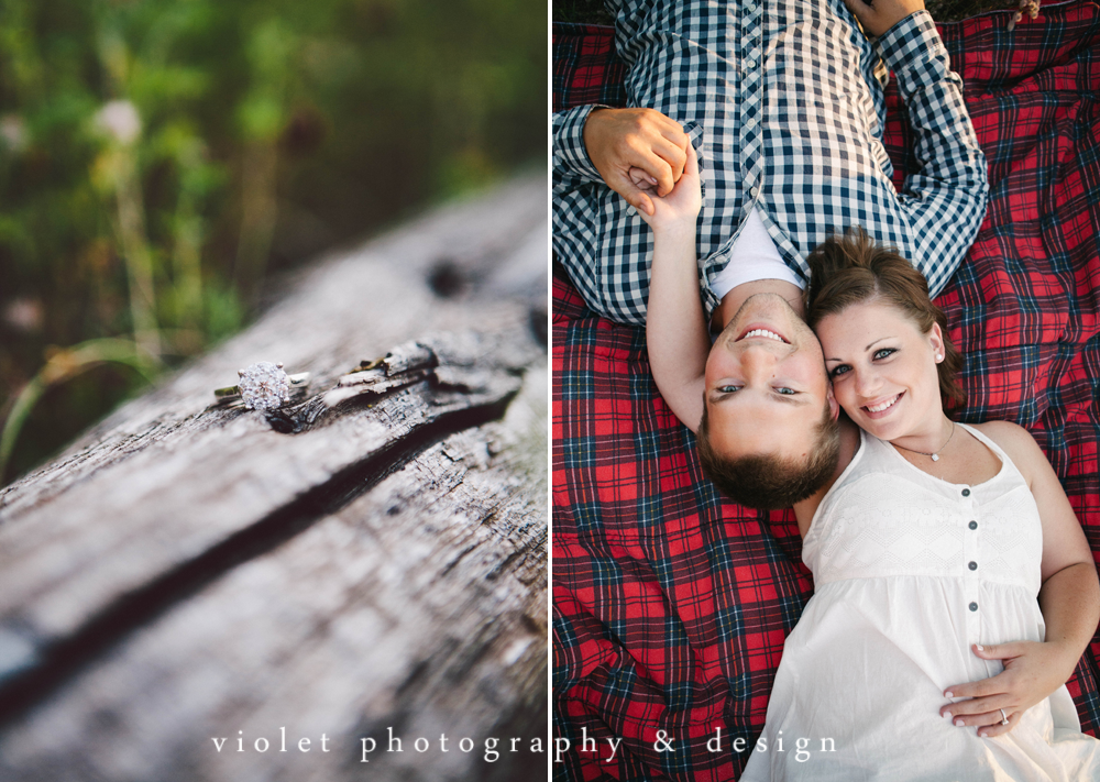 Rustic Flannel Engagement photos