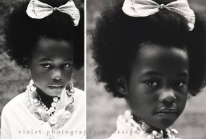 High Key Black & WHite fashion image child modeling