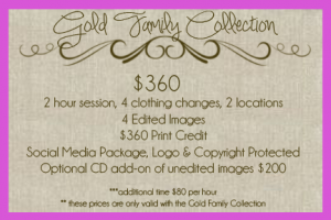 Violet Photography & Design Pricing
