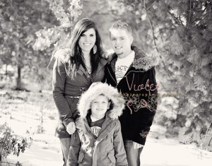 Family Session in the Woods at Winter