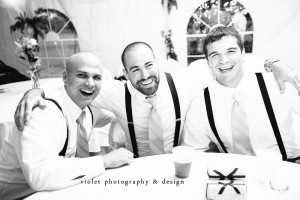 photographer having fun with bridal party
