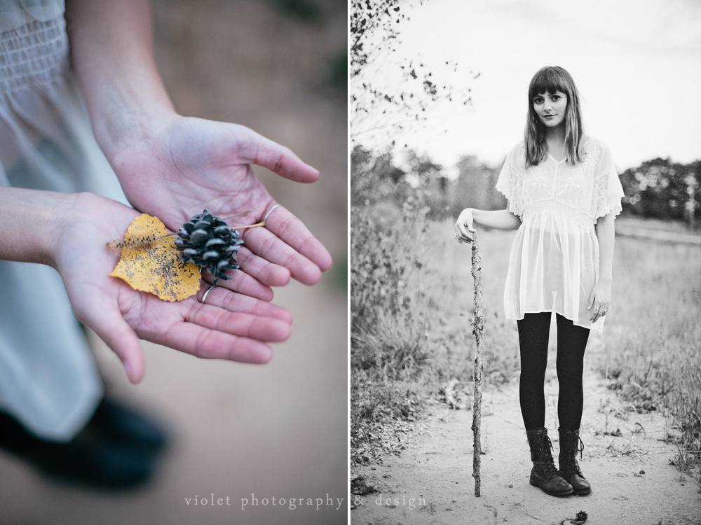 Hand photo, hands holding objects, autumn leaves and pinecones