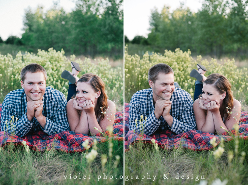 Relaxed and cozy engagement photos